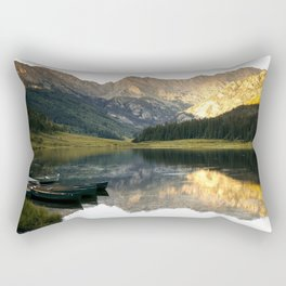 Its the little things, Piney Lake Colorado Rectangular Pillow
