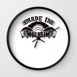 Made in Muelheim Gift Wall Clock
