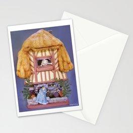 White rabbits house Stationery Cards