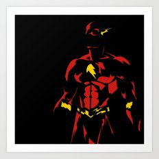 Red and Yellow: Flash the Fast Fellow Art Print