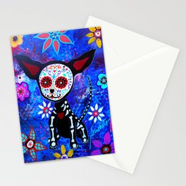 Mexican Day of the Dead Chihuahua by Prisarts Stationery Cards