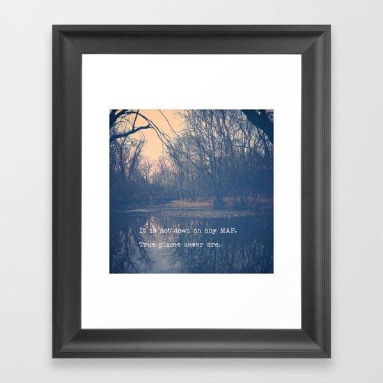 True Places Framed Art Print