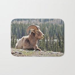 Smiling Bighorn Mountain Sheep Bath Mat