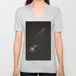 Orion horsehead running man and flame nebula Unisex V-Neck