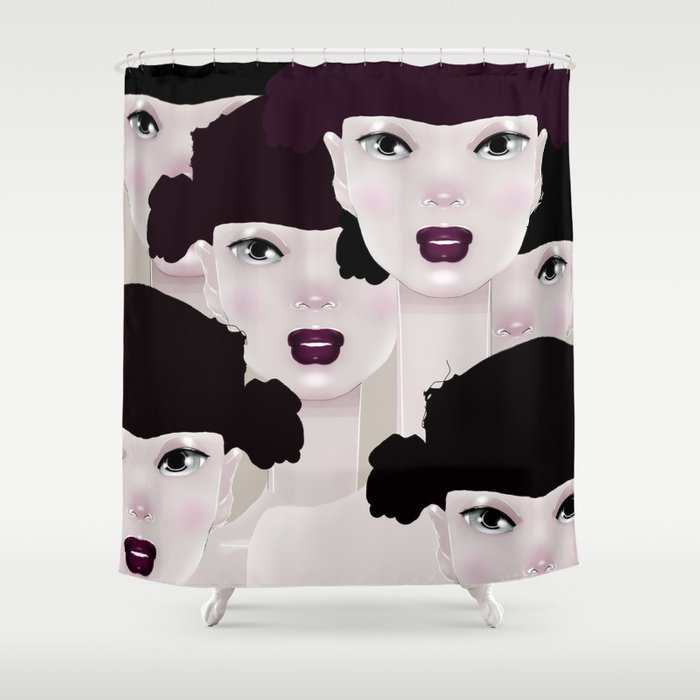 THE CROWD Shower Curtain