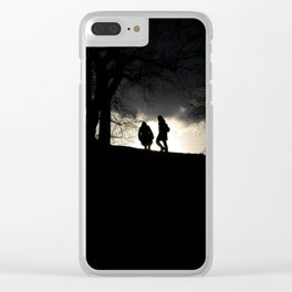 Little Silhouetto Clear iPhone Case