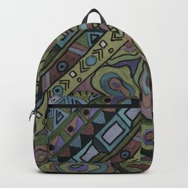 An abstract textured pattern in Oriental style . Backpack