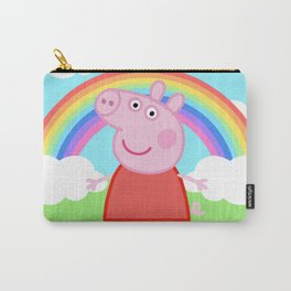 Peppa w/ rainbow Carry-All Pouch