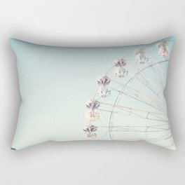 Soft blue ferris wheel  Rectangular Pillow