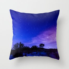 Night Sky at the Cape Throw Pillow