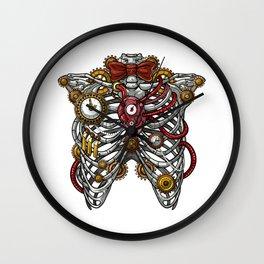 Steampunk Anatomy Rib Cage Wall Clock
