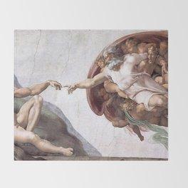 The Creation Of Adam Throw Blanket