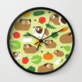 Guinea Pig And Its Treats Wall Clock