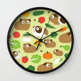 Guinea Pig And Its Treats Wall Clock