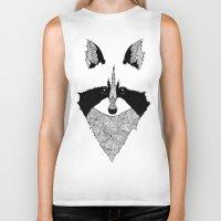 raccoon Biker Tanks featuring Raccoon by Art & Be