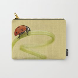 Ladybug and the green spring Carry-All Pouch