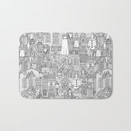 vintage halloween black white Bath Mat