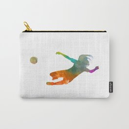 Woman soccer 14 in watercolor Carry-All Pouch