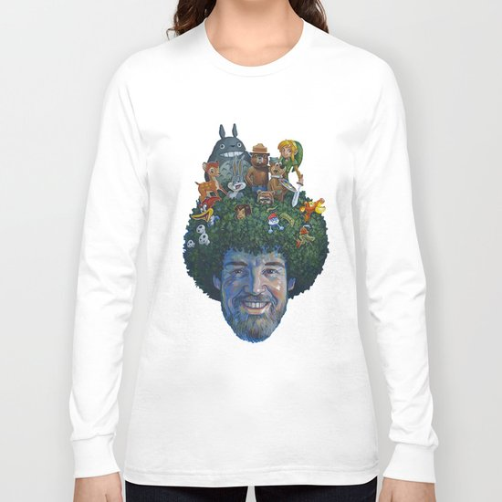 Bob Ross Long Sleeve T-shirt