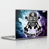 roller derby Laptop & iPad Skins featuring Roller Derby Por Vida by Mean Streak