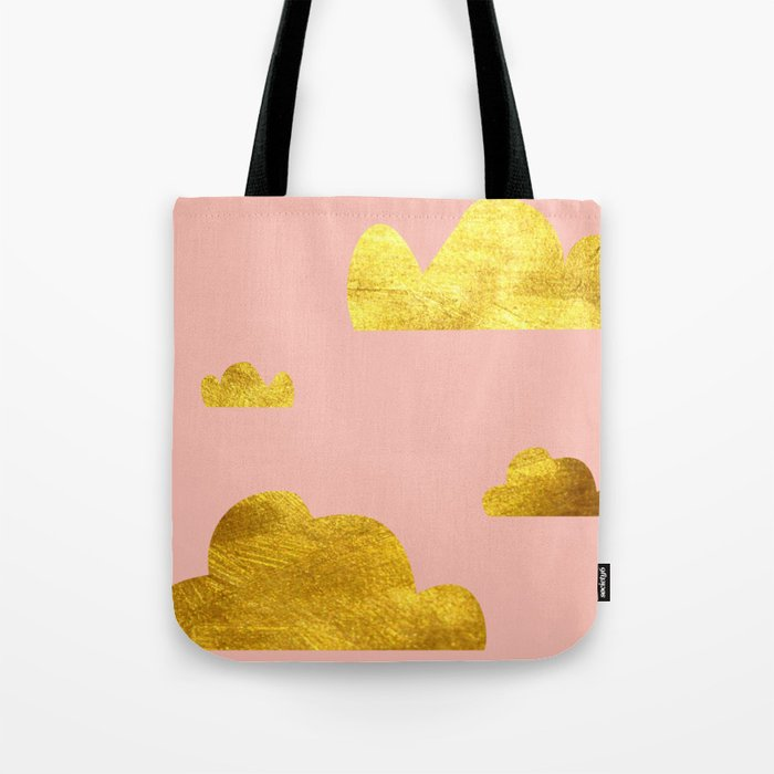 Gold Clouds Tote Bag