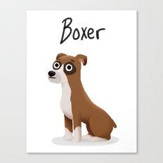 Boxer - Cute Dog Series Canvas Print