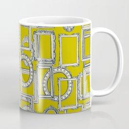 picture frames aplenty indigo chartreuse Coffee Mug