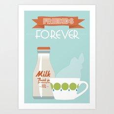Retro Milk and Tea - Friends forever Art Print