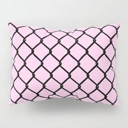 Chain Link Black on Blush Pillow Sham