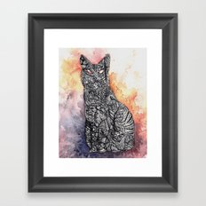 Black Cat Framed Art Print