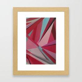 diamond cut Framed Art Print