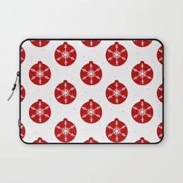 Snowflakes in Red Ornaments Christmas Decor Laptop Sleeve