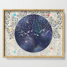 Beautiful starry night Serving Tray