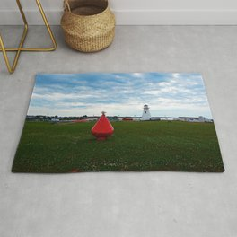 Marker Buoy and Lighthouse Rug