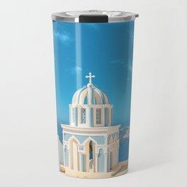 Santroini Grrece Travel Mug