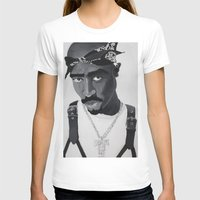 tupac T-shirts featuring Pop Cult™ - Tupac 2 by Lina Barbarin - Pop Cult™ & Aminals™