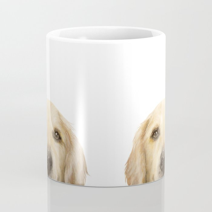 Golden retriever Dog illustration original painting print Coffee Mug