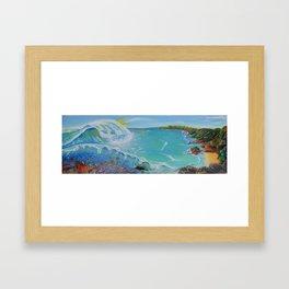 Ocean Above and Below  Framed Art Print