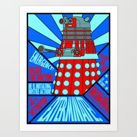 doctor who Art Prints featuring Doctor Who by Alli Vanes