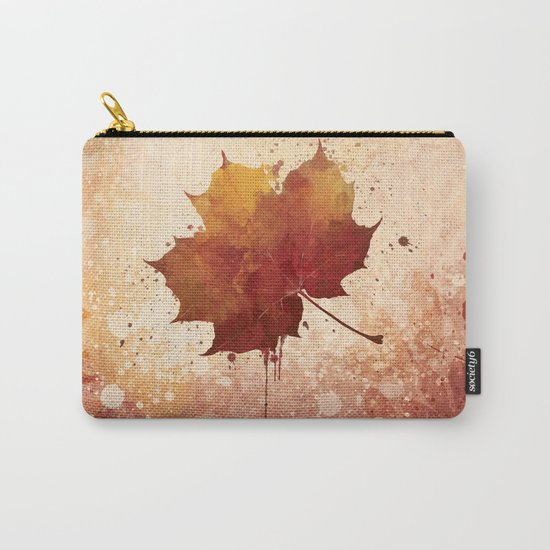 Autumn leaf watercolor painting Carry-All Pouch