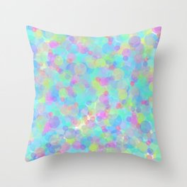 Colorful Time Throw Pillow