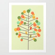 Happy Tree - Tweet Tweet Art Print