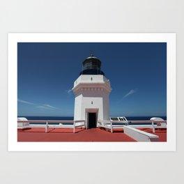Light House Top Art Print
