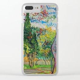 """Vincent van Gogh """"Parc de l'hôpital Saint-Paul"""" Clear iPhone Case"""