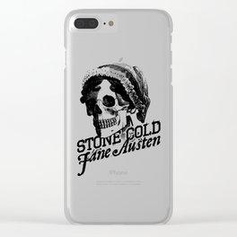Stone Cold Jane Austin Clear iPhone Case