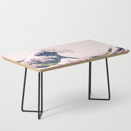 The Great Pink Wave off Kanagawa Coffee Table