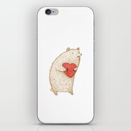 Bear with Heart iPhone Skin