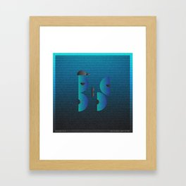 Music in Monogeometry : Belle & Sebastian Framed Art Print