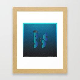 Music in Monogeometry : Belle & Sebastian Framed Art Print
