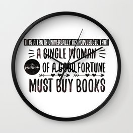 Jane Austen's Office Wall Clock